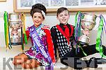 Saoirse Clifford Killarney and Sean Slemon Moyvane who won the u11 Girls and U15 Scotland Irish Dancing championships last week