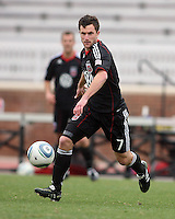Stephen King (7) of D.C. United  during a scrimmage against the University of Virginia at Ludwig Field, University of Maryland, College Park, on April  10 2011. D.C. United won 1-0.