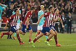 Atletico de Madrid's players celebrating the victory during UEFA Champions League match. March 15,2016. (ALTERPHOTOS/Borja B.Hojas)