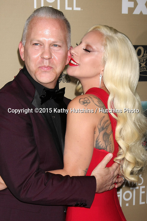 "LOS ANGELES - OCT 3:  Ryan Murphy, Lady Gaga at the ""American Horror Story: Hotel"" Premiere Screening at the Regal 14 Theaters on October 3, 2015 in Los Angeles, CA"