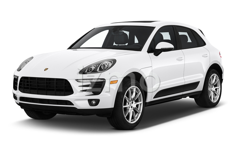 2018 Porsche Macan Base 5 Door SUV angular front stock photos of front three quarter view