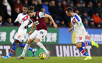 Burnley's Jay Rodriguez under pressure from Crystal Palace's James McArthur<br /> <br /> Photographer Rich Linley/CameraSport<br /> <br /> The Premier League - Burnley v Crystal Palace - Saturday 30th November 2019 - Turf Moor - Burnley<br /> <br /> World Copyright © 2019 CameraSport. All rights reserved. 43 Linden Ave. Countesthorpe. Leicester. England. LE8 5PG - Tel: +44 (0) 116 277 4147 - admin@camerasport.com - www.camerasport.com