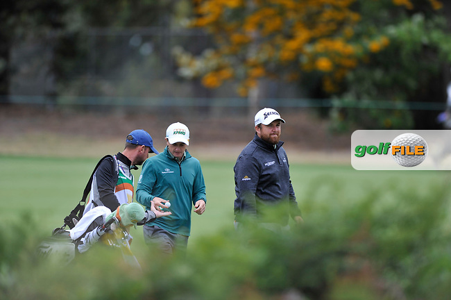 Paul Dunne (IRL) and Shane Lowry (IRL) during the 3rd round of the World Cup of Golf, The Metropolitan Golf Club, The Metropolitan Golf Club, Victoria, Australia. 24/11/2018<br /> Picture: Golffile | Anthony Powter<br /> <br /> <br /> All photo usage must carry mandatory copyright credit (© Golffile | Anthony Powter)