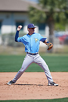 Tampa Bay Rays Justin Bridgman (64) during a Minor League Spring Training game against the Minnesota Twins on March 15, 2018 at CenturyLink Sports Complex in Fort Myers, Florida.  (Mike Janes/Four Seam Images)