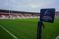 A general view of Parc Y Scarlets, Llanelli, home of Scarlets<br /> <br /> Photographer Ian Cook/CameraSport<br /> <br /> European Rugby Champions Cup - Scarlets v Racing 92 - Saturday 13th October 2018 - Parc y Scarlets - Llanelli<br /> <br /> World Copyright © 2018 CameraSport. All rights reserved. 43 Linden Ave. Countesthorpe. Leicester. England. LE8 5PG - Tel: +44 (0) 116 277 4147 - admin@camerasport.com - www.camerasport.com