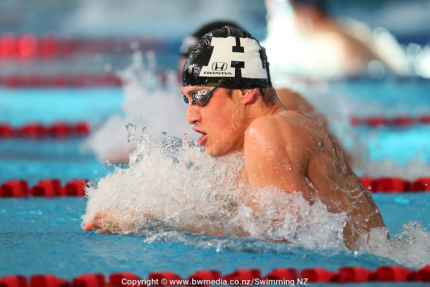 Mario Koenigsperger, 100m Breast. New Zealand Short Course Swimming Championships, National Aquatic Centre, Auckland, New Zealand, Tuesday 1st October 2019. Photo: Simon Watts/www.bwmedia.co.nz/SwimmingNZ