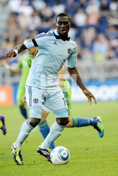 C.J Sapong (17) forward Sporting KC in action.... Sporting Kansas City were defeated 1-2 by Seattle Sounders at LIVESTRONG Sporting Park, Kansas City, Kansas.