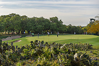 A wide view of the green on 13 shot over the surrounding cactus during day 2 of the Valero Texas Open, at the TPC San Antonio Oaks Course, San Antonio, Texas, USA. 4/5/2019.<br /> Picture: Golffile | Ken Murray<br /> <br /> <br /> All photo usage must carry mandatory copyright credit (© Golffile | Ken Murray)