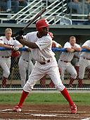 July 17, 2003:  Outfielder Javon Moran of the Batavia Muckdogs, Class-A affiliate of the Philadelphia Phillies, during a NY-Penn League game at Dwyer Stadium in Batavia, NY.  Photo by:  Mike Janes/Four Seam Images