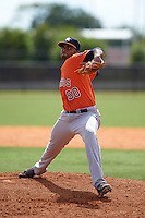 Houston Astros pitcher Hector Perez (50) during an instructional league game against the Atlanta Braves on October 1, 2015 at the Osceola County Complex in Kissimmee, Florida.  (Mike Janes/Four Seam Images)