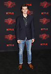 WESTWOOD, CA - OCTOBER 26: Actor Elijah Stevenson arrives at the Premiere Of Netflix's 'Stranger Things' Season 2 at Regency Westwood Village Theatre on October 26, 2017 in Los Angeles, California.