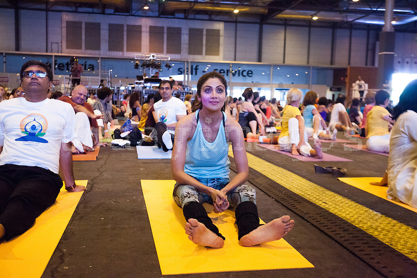International Yoga Day Celebrations in Madrid Spain celebrated the Yoga Day with India's Ambassador Vikram Misri and Bollywood actress, Shilpa Shetty
