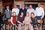 BIRTHDAY TIME: Francis Teahan, Tonavane enjoying a great time celebrating her 70th birthday with family and friends at the Grand hotel, Tralee on Saturday seated l-r: Eilish Teahan, Pamela Teahan, Francis Teahan and Geraldine Flynn. Back l-r: Mark Teahan, Aidan Teahan, Thomas Moriarty, Padraig Teahan and Pierse Flynn.
