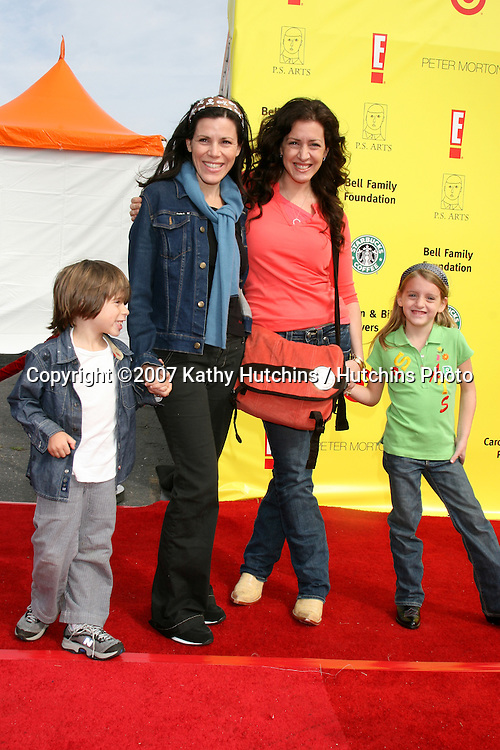 "Tricia Leigh Fisher & Son, Joely Fisher & Skylar.PS Arts ""Express Yourself"" Benefit.Barker Hanger.Santa Monica, CA.November 2, 2007.©2007 Kathy Hutchins / Hutchins Photo...               ."