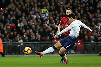 Son Heung-Min of Tottenham Hotspur hits the post during Tottenham Hotspur vs Southampton, Premier League Football at Wembley Stadium on 5th December 2018
