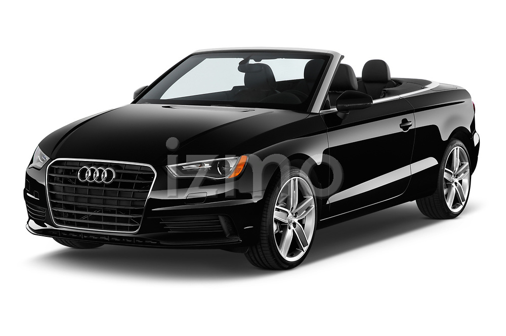 2015 Audi A3 1.8 Premium Plus  2 Door Convertible angular front stock photos of front three quarter view