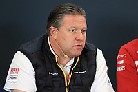 1st November 2019; Circuit of the Americas, Austin, Texas, United States of America; Formula 1 United Sates Grand Prix, practice day; Zak Brown, Executive Director of McLaren Technology Group - Editorial Use