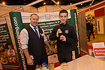 Skills Active Cymru<br /> Student Jonathan Bevan from Bryn Teg Comprehensive trying his hand at mixing cocktails with Craig Bennett from Cambrian Training.<br /> Cardiff International Arena<br /> 23.10.14<br /> &copy;Steve Pope-FOTOWALES