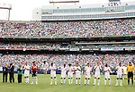 10 June 2007: Mexico's starters are introduced in front of a crowd of nearly 70,000. The Honduras Men's National Team defeated the National Team of Mexico 2-1 at Giants Stadium in East Rutherford, New Jersey in a first round game in the 2007 CONCACAF Gold Cup.