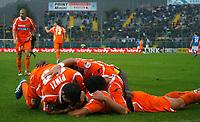 17-10-2010 Brescia italia sport calcio<br /> Brescia-Udinese Calcio Serie A<br /> nella foto esultanzxa udinese goal 0-1 Bernardo Corradi<br /> foto Prater/Insidefoto