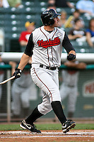 August 12, 2009: Joe Koshansky of the Nashville Sounds, Pacific Cost League Triple A affiliate of the Milwaukee Brewers, during a game at the Spring Mobile Ballpark in Salt Lake City, UT.  Photo by:  Matthew Sauk/Four Seam Images