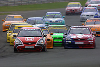 Round 4 of the 2002 British Touring Car Championship. Race action.