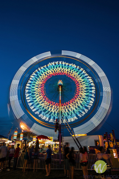 Lycoming County fair at night
