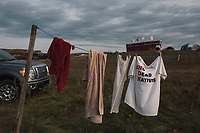 Laundry at Oceti Sakowin camp near Cannon Ball, ND on Monday, September 12, 2016.