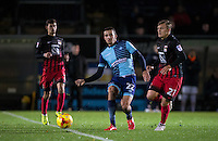 Nick Freeman of Wycombe Wanderers plays a pass during the The Checkatrade Trophy Southern Group D match between Wycombe Wanderers and Coventry City at Adams Park, High Wycombe, England on 9 November 2016. Photo by Andy Rowland.