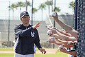 Hideki Matsui (Yankees),<br /> FEBRUARY 20, 2014 - MLB :<br /> New York Yankees' guest instructor Hideki Matsui waves to fans during the New York Yankees spring training camp at George M. Steinbrenner Field in Tampa, Florida, United States. (Photo by Thomas Anderson/AFLO) (JAPANESE NEWSPAPER OUT)