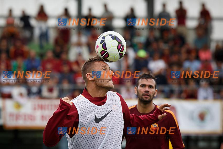 Bad Waltersdorf, 11/08/14<br /> Francesco Totti e Leandro Castan<br /> Calcio 2014/2015 Serie A. Ritiro AS Roma. Pre season training.  <br /> Foto Carlo Baroncini / Insidefoto