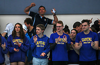 Supporters in action during the Swimming New Zealand Short Course Championships,Owen G Glenn National Aquatic Centre, Auckland, New Zealand, Saturday October 2017. Photo: Simon Watts/www.bwmedia.co.nz