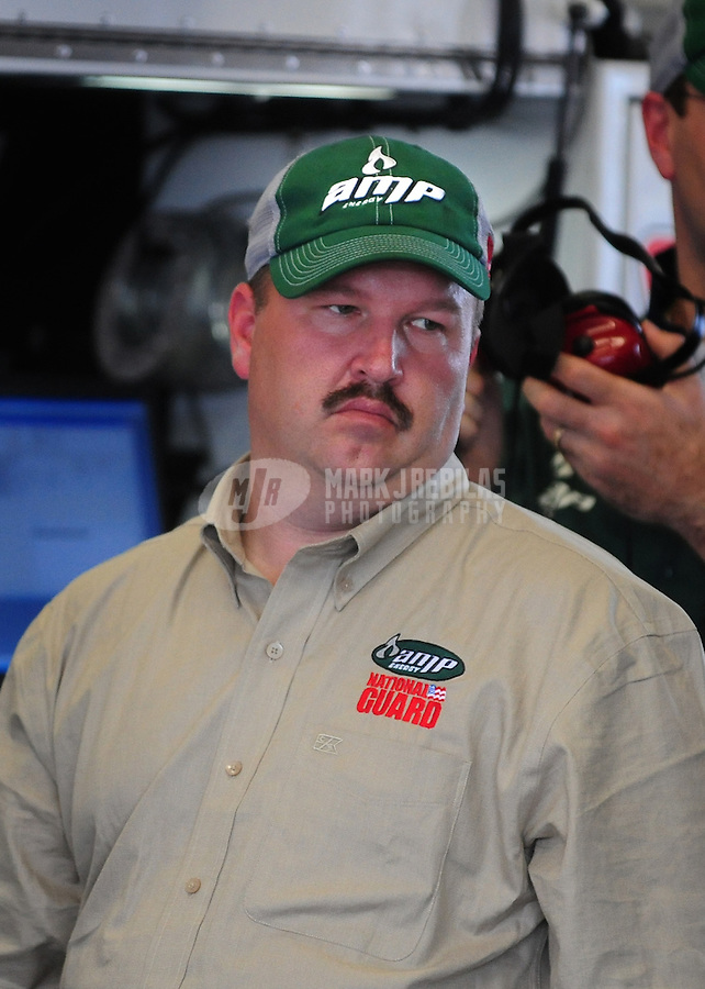 Feb 13, 2008; Daytona Beach, FL, USA; Nascar Sprint Cup Series crew chief Tony Eury Jr during practice for the Daytona 500 at Daytona International Speedway. Mandatory Credit: Mark J. Rebilas-US PRESSWIRE