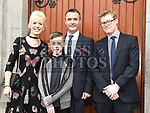 Matthew Byrne who was confirmed at The Church of the Immaculate Conception Termonfeckin pictured with parents Shane and Kate and sponsor Victor Murphy. Photo:Colin Bell/pressphotos.ie