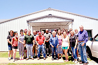 RACHEL DICKERSON/MCDONALD COUNTY PRESS Employees of Cooper Gear in Anderson are pictured during a 25th anniversary celebration on June 13.