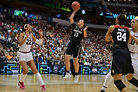 Dallas, TX - Friday March 31, 2017: Marta Sniezek during the NCAA National Semifinal Game between the women's basketball teams of Stanford and South Carolina at the American Airlines Center.