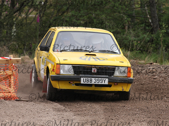 David Martin / John Stanger?Leathes near Junction 1 on Special Stage 8 of the Gleaner Oil & Gas Speyside Stages Rally 2012, Round 6 of the RAC MSA Scottish Rally Championship which was organised by The 63 Car Club (Elgin) Ltd and based in Elgin on 4.8.12..........