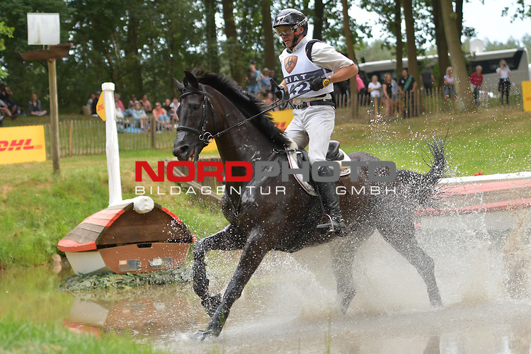 16.06.2018,  GER;  Luhmuehlen 2017, Vielseitigkeit, Gelaendepruefung C***, Deutsche Meisterschaft, im Bild  Andreas Dibowski (GER) auf FRH Butts Avedon am DHL Komplex Foto © nordphoto / Witke *** Local Caption ***