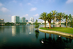 Florida: Orlando, downtown, Lake Eola. Photo orland101.Photo copyright Lee Foster, www.fostertravel.com, 510/549-2202, lee@fostertravel.com