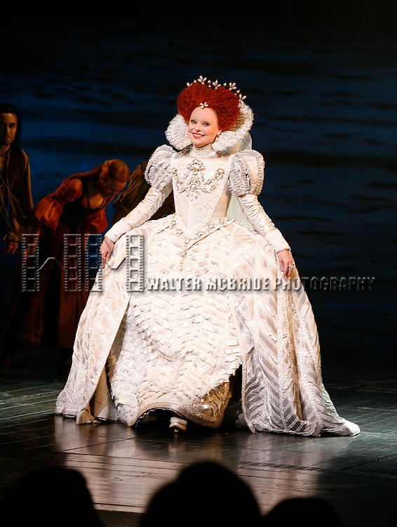 Linda Balgord.on stage during the curtain call following the Opening Night performance of THE PIRATE QUEEN at the Hilton Theatre in New York City. April 5, 2007.© Walter McBride /