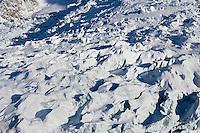 Europe/France/Rhone-Alpes/74/Haute-Savoie/ env de Chamonix et de Megève : le Glacier des Bossons massif du Mont-Blanc - Vue Aérienne