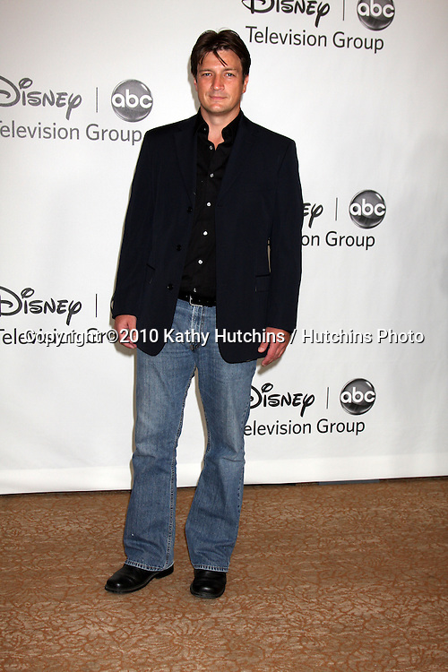 LOS ANGELES - AUGUST 1:  Nathan Fillion arrive(s) at the 2010 ABC Summer Press Tour Party at Beverly Hilton Hotel on August 1, 2010 in Beverly Hills, CA...