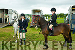 l-r  Niamh Keraney, Tralee with Squiggles and Grace Foley, Firies with Elliott at the KERRY PONY SOCIETY 37th Annual Show & Gymkhana At Blennerville on Sunday