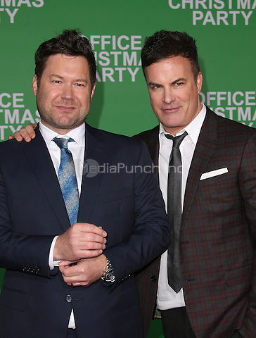 """Westwood, CA - DECEMBER 07: Josh Gordon, Will Speck, At Premiere Of Paramount Pictures' """"Office Christmas Party"""" At Regency Village Theatre, California on December 07, 2016. Credit: Faye Sadou/MediaPunch"""