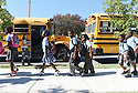 Children get out of school at KIPP Leadership Primary Academy in New Orleans, Thursday, Aug. 27, 2015..