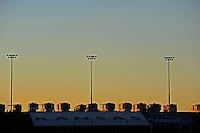Sunrise over Kansas Speedway.