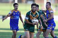 The Wyong Roos play Toukley Hawks in Round 3 of the Open Age Central Coast Rugby League Division at Morry Breen Oval on 19th of April, 2019 in Kanwal, NSW Australia. (Photo by Paul Barkley/LookPro)