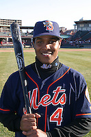 April 11, 2005:  Second Baseman Anderson Hernandez of the Binghamton Mets during a game at Jerry Uht Park in Erie, PA.  Binghamton is the Eastern League Double-A affiliate of the New York Mets.  Photo by:  Mike Janes/Four Seam Images
