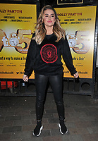 Amber Davies at the &quot;9 To 5 The Musical&quot; theatre stage door cast departures, Savoy Theatre, The Strand, London, England, UK, on Wednesday 10th April 2019.<br /> CAP/CAN<br /> &copy;CAN/Capital Pictures