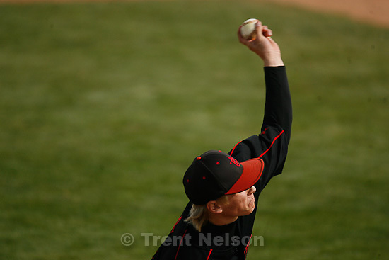 Trent Nelson  |  The Salt Lake Tribune.American Fork pitcher Kyle Wright throws the ball as Lone Peak hosts American Fork High School baseball in Highland, Utah, Friday, May 6, 2011.